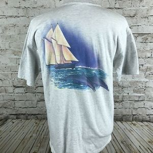 VTG Floirda Keys Travel T-Shirt Size XL Gray